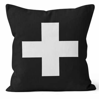 Swiss Cross Throw Pillow Size: 18 H x 18 W x 3 D