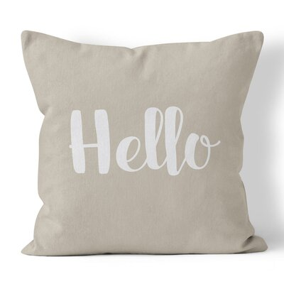 Newcastle Hello Throw Pillow Size: 20 H x 20 W x 3 D