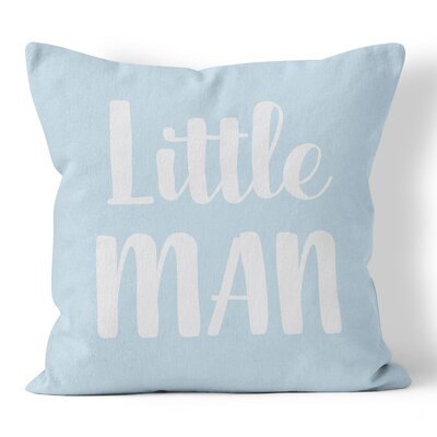 Little Man Nursery Throw Pillow Size: 18 H x 18 W x 3 D