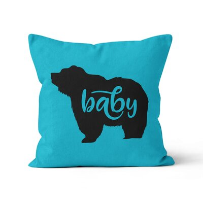 Baby Bear Nursery Throw Pillow Color: Summer Blue, Size: 16 H x 16 W