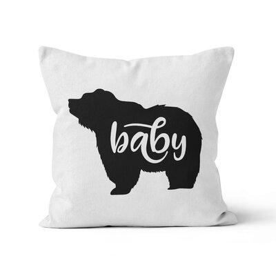 Baby Bear Nursery Throw Pillow Color: White, Size: 16 H x 16 W