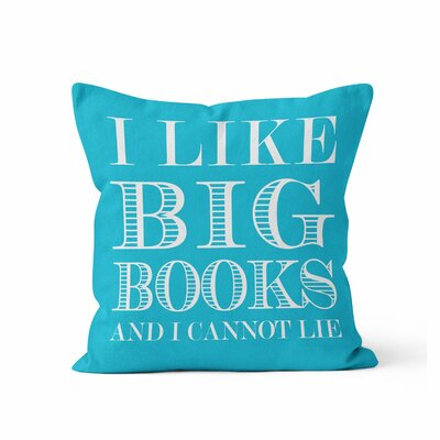 Ewalt I like Big Books Throw Pillow Color: Summer Blue