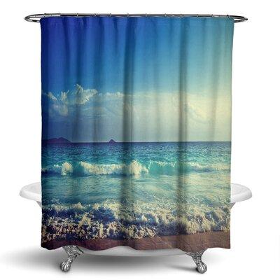 Epping Beach Ocean Waves Shower Curtain
