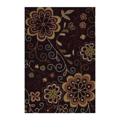 Hand-Tufted Brown Area Rug Rug Size: Rectangle 4 x 6