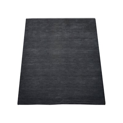 Delano Solid Hand-Woven Wool Charcoal Area Rug Rug Size: Rectangle 3 x 5