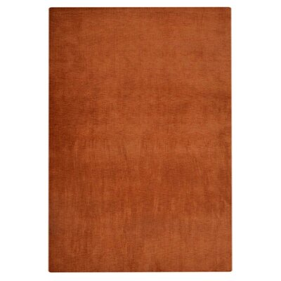 Hand-Woven Orange Area Rug Rug Size: 9 x 12