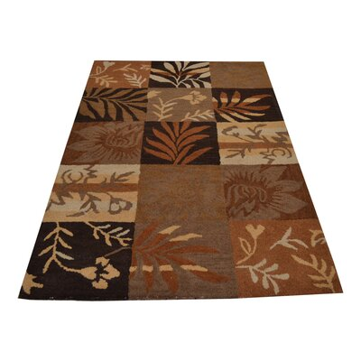 Lydecker Hand-Woven Brown Area Rug Rug Size: Rectangle�4 x 6