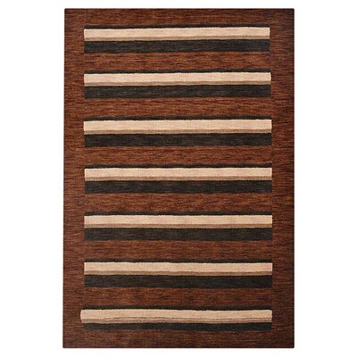 Hand-Woven Brown/Beige Area Rug Rug Size: 6 x 9