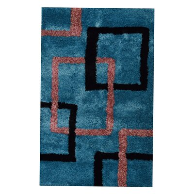 Halley Abstract Hand-Woven Firoza Area Rug Rug Size: Rectangle�4 x 6