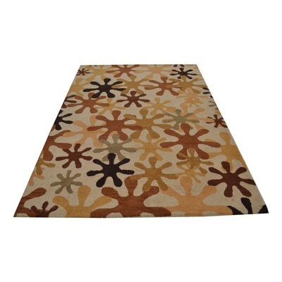 Ringwood Hand-Woven Beige Area Rug Rug Size: Rectangle 5 x 8