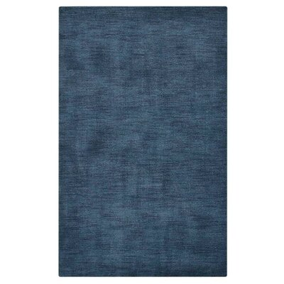Hand-Knotted Denim Blue Area Rug Rug Size: 6 x 9