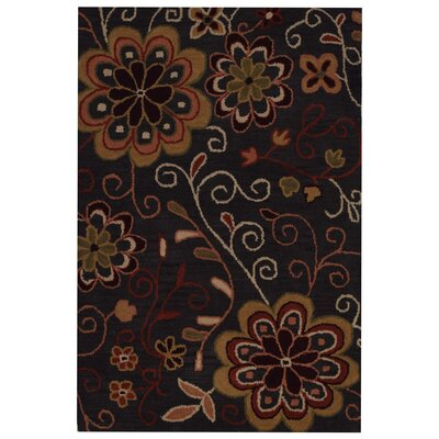Hand-Tufted Charcoal Area Rug Rug Size: 4 x 6