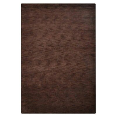 Hand-Knotted Brown Area Rug Rug Size: 9 x 12