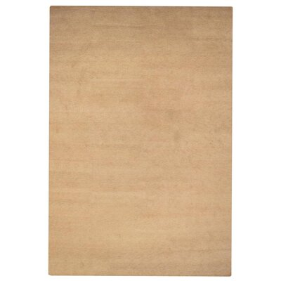 Delano Solid Hand Knotted Wool Beige Area Rug Rug Size: 3 x 5