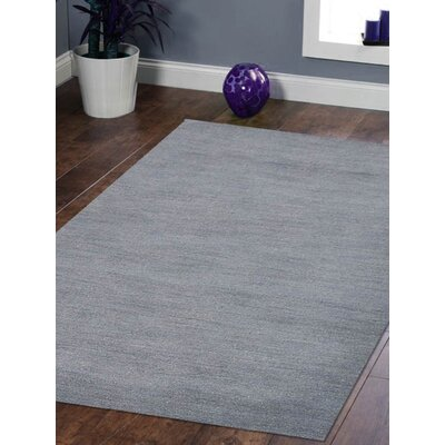 Riggio Hand-Knotted Wool Gray Area Rug Rug Size: Rectangle 9 x 12