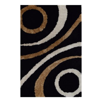Ry Hand-Woven Black/Brown Indoor/Outdoor Area Rug Rug Size: Rectangle�6 x 9