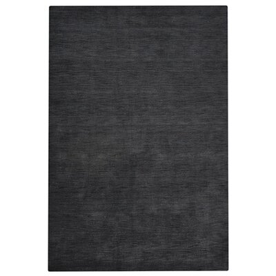 Delano Solid Hand-Woven Wool Charcoal Area Rug Rug Size: Rectangle 5 x 8