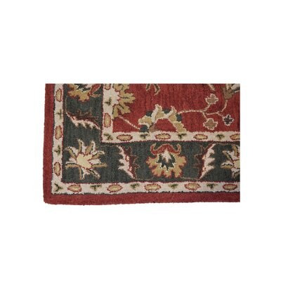 Raffaele Hand-Woven Red/Green Area Rug Rug Size: Rectangle 9 x 12