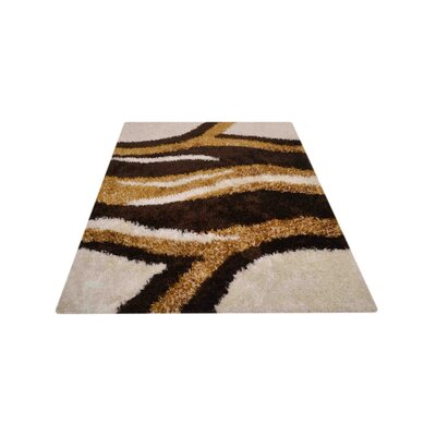 Korra Abstract Hand Tufted Black/Beige/Brown Area Rug