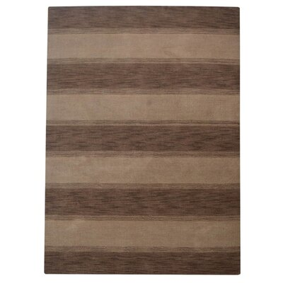 Ceniceros Striped Hand-Woven Wool Brown/Beige Area Rug Rug Size: Runner 28 x 10