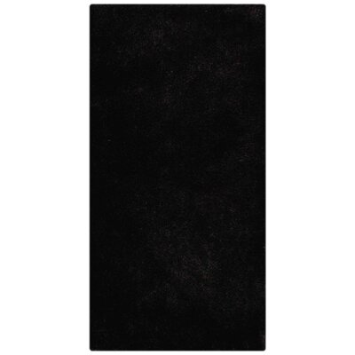 Ry Hand Tufted Rectangle Black Area Rug Rug Size: 6 x 9