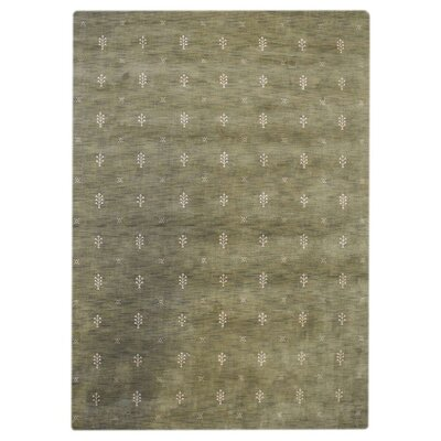 Connersville Hand-Knotted Wool Green Area Rug