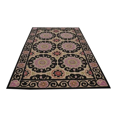 Resler Hand-Woven Beige Area Rug Rug Size: Rectangle 5 x 8
