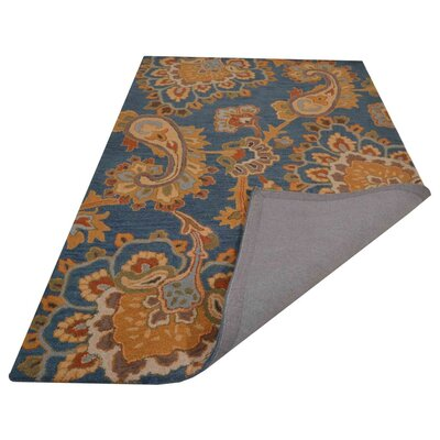 Reser Hand-Woven Blue Area Rug Rug Size: Rectangle 9 x 12