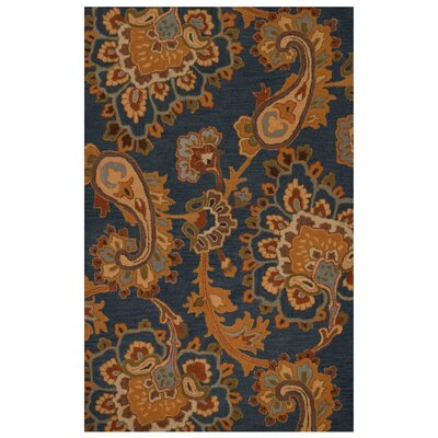 Hand-Tufted Blue Area Rug Rug Size: Runner 26x8