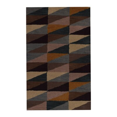 Hand-Tufted Brown Area Rug Rug Size: Rectangle 3x5