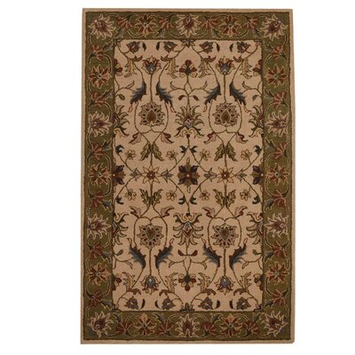 Hand-Tufted Beige/Green Area Rug Rug Size: 8 x 11