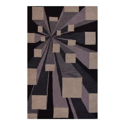Hand-Tufted Beige Area Rug Rug Size: Rectangle 8x11