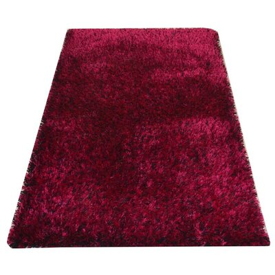Sanford Solid Hand-Woven Violet Area Rug Rug Size: Rectangle�3 x 5