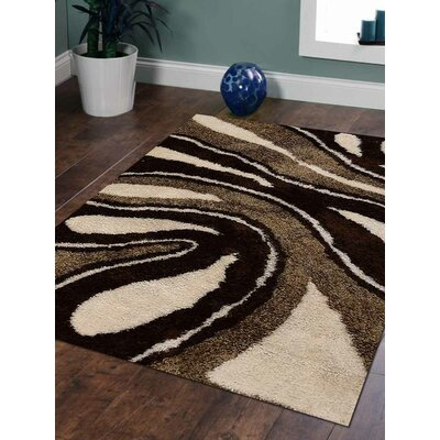 Eden Hand-Woven Brown/Beige Area Rug Rug Size: Rectangle 5 x 8