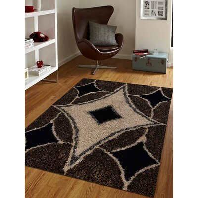 Kirwan Hand-Woven Brown/Beige Area Rug Rug Size: Rectangle�8 x 10