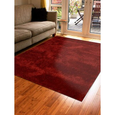 Sophy Hand-Woven Red Area Rug Rug Size: Rectangle�4 x 6