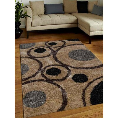 Wooters Abstract Hand-Woven Beige Area Rug Rug Size: Rectangle�5 x 8