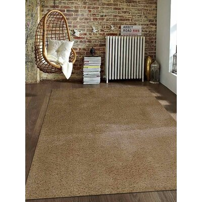 Sanford Solid Hand-Woven Ivory Area Rug Rug Size: Rectangle�3 x 5