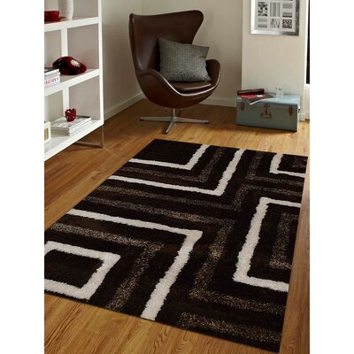 Kruitbosch Hand-Woven Brown/Beige Area Rug Rug Size: Rectangle 5 x 8