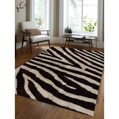 Raftery Hand-Woven Brown/Ivory Area Rug Rug Size: Rectangle 5' x 8'