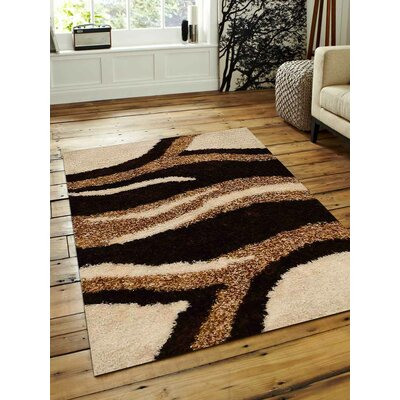Hand-Tufted Black/Beige Area Rug