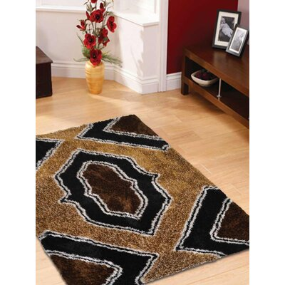 Ressler Hand-Woven Black/Brown Area Rug Rug Size: Rectangle 5 x 8