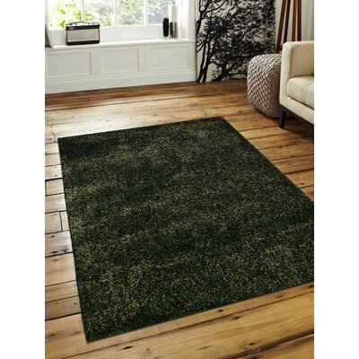 Sanford Solid Hand-Woven Green Area Rug Rug Size: Rectangle�5 x 8