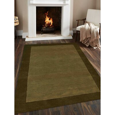 Hand-Tufted Green Area Rug Rug Size: Rectangle 8x10