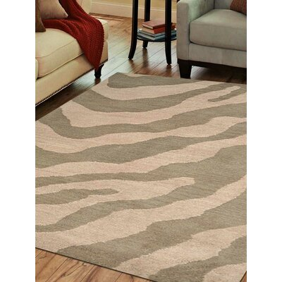 Hand-Tufted Beige/Brown Area Rug Rug Size: 3x5