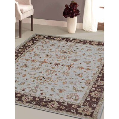 Hand-Tufted Beige/Brown Area Rug Rug Size: Rectangle 5x8