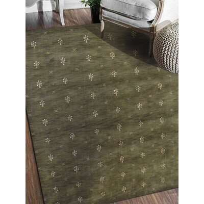 Connersville Hand-Woven Wool Green Area Rug Rug Size: Rectangle�8 x 10