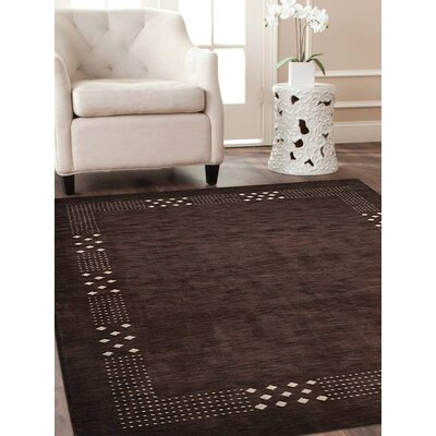 Craybrough Hand-Woven Wool Brown Area Rug Rug Size: Rectangle 8 x 10