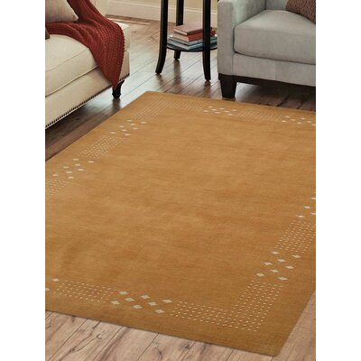 Hand-Woven Gold Area Rug