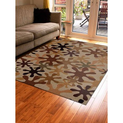 Hand-Tufted Beige Area Rug Rug Size: Rectangle 9x12